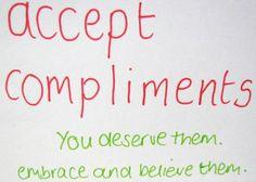 accept compliments