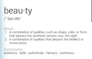 beauty def 6