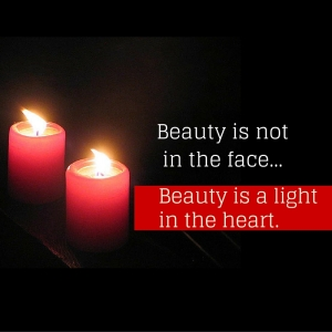 Beauty is not in the face;