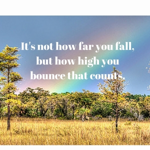 It's not how far you fall, but how high you bounce that counts. (2)